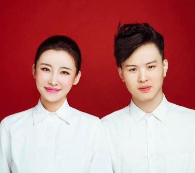 张玮结婚吴莫愁反串伴郎 一向帅气的莫莫发型