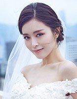 白纱礼服的几款发型 文咏珊用的最端庄