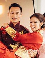 安以轩喜庆中国风发型 台湾艺人大婚也这么梳