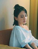 佟丽娅半扎发拍摄写真封面 炫出潮流时尚的造型