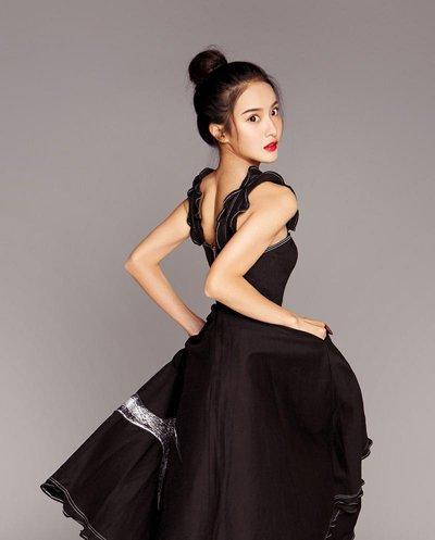 黑裙+盘发赖雨��Angelababy都这样做 明星示范黑裙与发型搭配