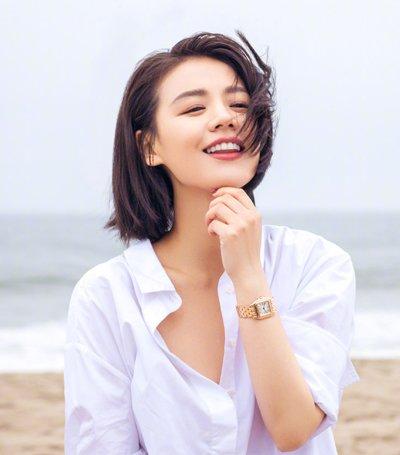 学马思纯梳夏季清爽短发 做清新夏日女神图片