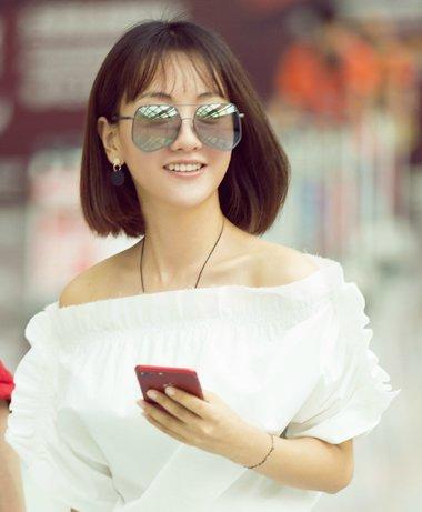杨蓉夏季清爽短发look 时尚icon当之无愧