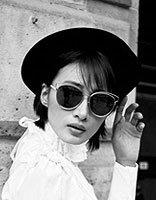 冯文娟短发演绎法式文艺 冯文娟时髦短发发型图片