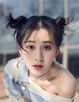 刘颖伦哪吒头写真俏皮可爱 刘颖伦淑女长发发型