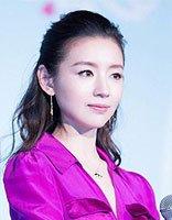37岁董洁穿紫色长裙真・女神 董洁减龄气质扎发发型盘