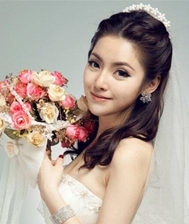 婚纱照发型图片