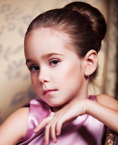 儿童花包头的梳法 女童花样梳头
