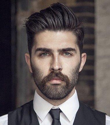 留胡子两边推掉的发型是什么样的呢?络腮胡剃鬓角发型也很帅哟!图片