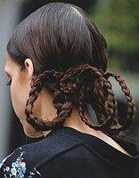 柔顺秀发妥妥的hold住各种发型 适合长直发的扎发发型设计