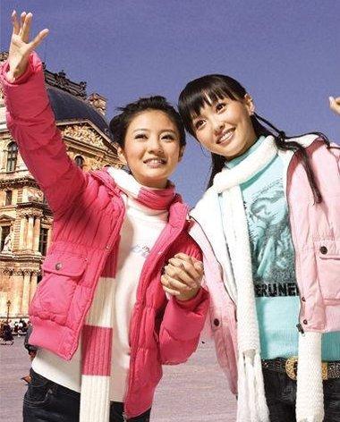 唐嫣安以轩曾合拍广告 回忆满满的00代扎发