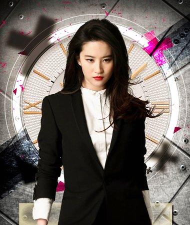 刘亦菲的画风越来越帅了 西装与中长发型才是标配