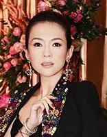 辣妈章子怡干练盘发配吊带裙 女神大秀性感的造型设计