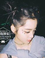 不良少女样的青春发型 欧阳娜娜音乐节双扎发