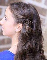 假期游玩的美眉编发造型 淑女好看的女生发型设计
