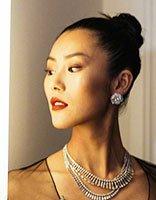 大表姐刘雯深v透视也用丸子头 拍照丸子头就够了