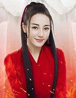 迪丽热巴红衣古装看不够 烈火如歌美人剧照发型