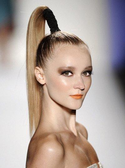你的高马尾能扎出明星范吗? 个性高马尾扎发发型图片
