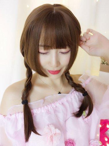 女生简约的扎发 水母头发型怎么梳