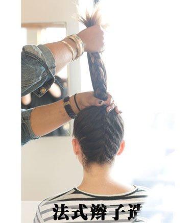 漂亮丸子头编法 简单时尚的扎发