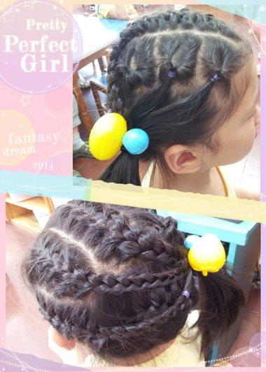 儿童2分米的头发怎么扎 小女孩梳头方法