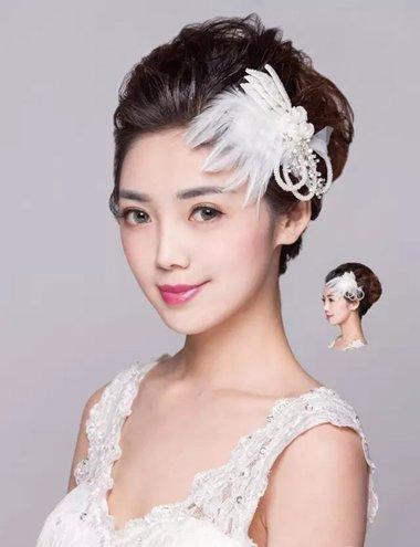 森系头发新娘教程 2018世界杯体育投注平台蓬松丸子头造型