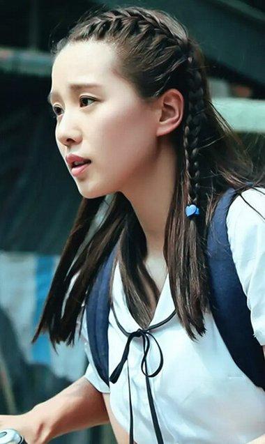 刘诗诗麻花辫发型 什么脸型适合编发