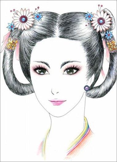 双环望仙髻怎么盘 古代女子梳发有什么讲究