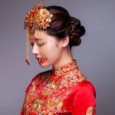 穿秀禾服结婚的发型 新娘复古造型设计