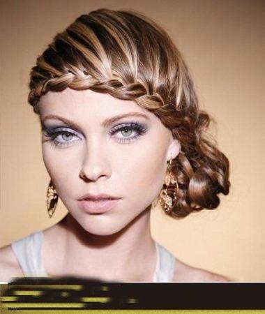 巧克力色挑染粉色 染头发图片设计
