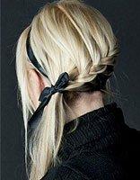小学生简单头发配发饰 适合编发的发饰