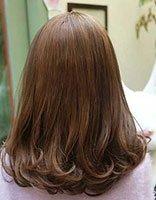 女生新款卷发图片 2018梨花头背面发型