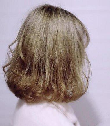 中发梨花烫发型图片 披肩梨花烫发型图片