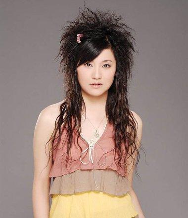 麦穗烫的中长发发型 中长发麦穗烫发型图片