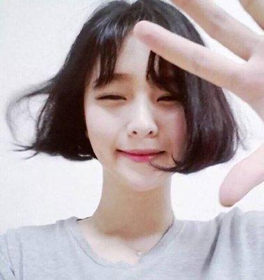 韩式中分八字刘海 韩式八字刘海图片大全