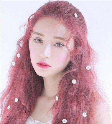 粉色头发可以维持多久 小水波纹粉色发型图片