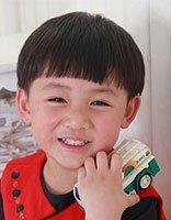 小男孩剃西瓜头的图片 男宝宝西瓜头发型图片