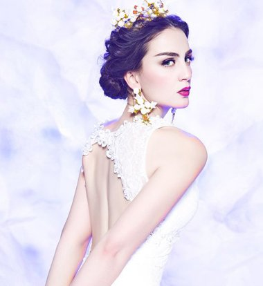 发量少新娘白纱发型 2019时尚新娘白纱发型图片