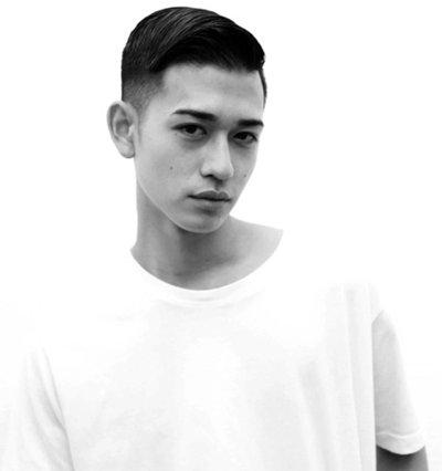 男士超短油头发型图片 中国男生油头发型