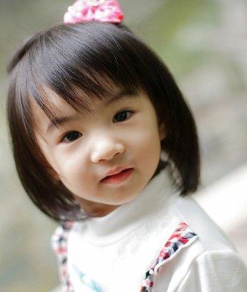小女孩波波头发型图片 女宝宝波波头发型图片