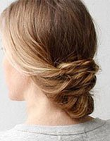 中长发怎么把后面的头发盘上去 头发后面怎么简单盘发图解