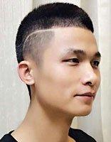 圆寸留大背头过渡期 男士长圆寸发型图片