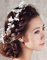 后面编头发怎么可爱 可爱新娘头发造型制作过程