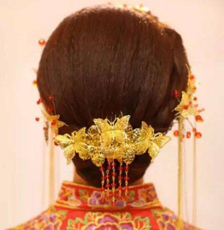 如何盘中国传统简单的新娘头 中国古典发饰怎样梳