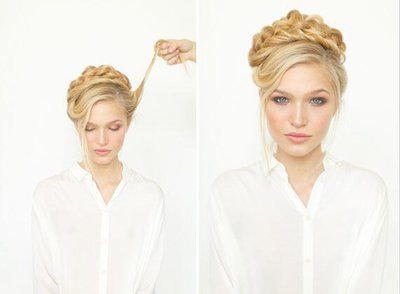 花式盘头发图片分解 花式头发的扎法