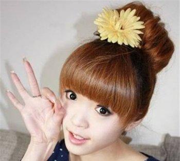 丸子头怎么做 韩国女生丸子头怎么能盘的很大