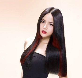 断层女款发型 女生断层直发发型图片