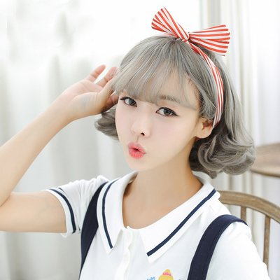 刘海梨花烫发型图片 外翘梨花发型
