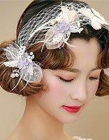 长刘海发箍的戴法 留刘海的新娘发饰