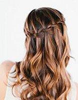 头发造型编瀑布辫子 法式瀑布编头发
